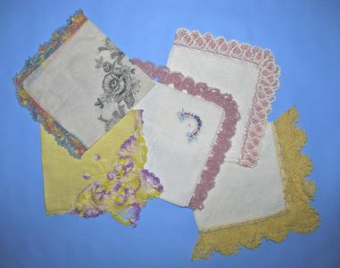 Crochet-bordered handkerchiefs