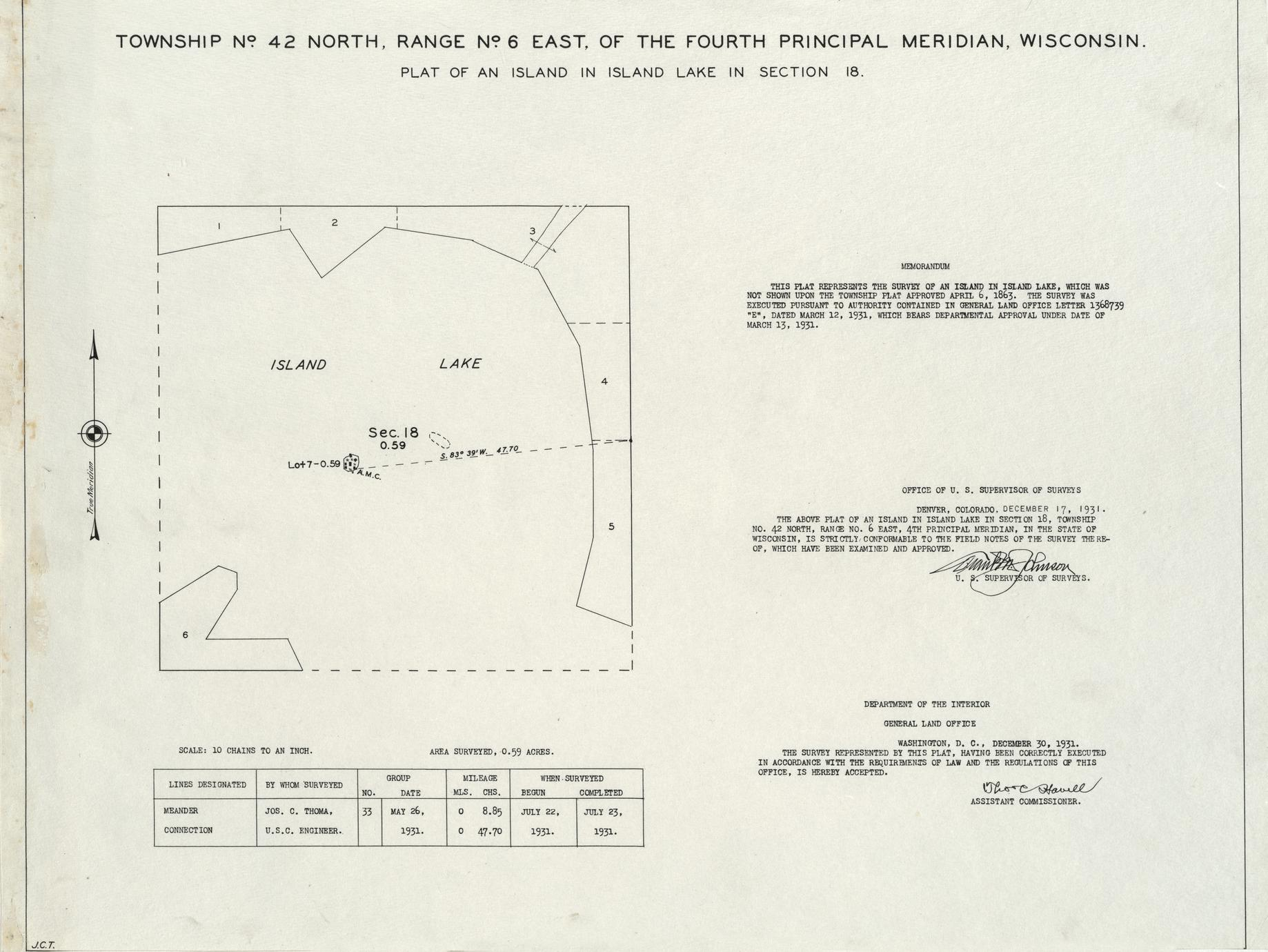[Public Land Survey System map: Wisconsin Township 42 North, Range 06 East]