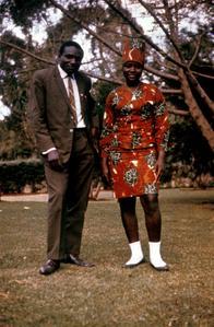 Kenyan Man and Woman Posing in Urban Fashions