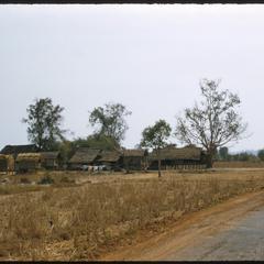Village near Vientiane seen from paved road