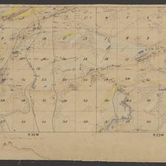 Geological map of area north of Iron Mountain (Dickinson County, Michigan)