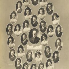 1917 Swiss Reformed Church confirmation class