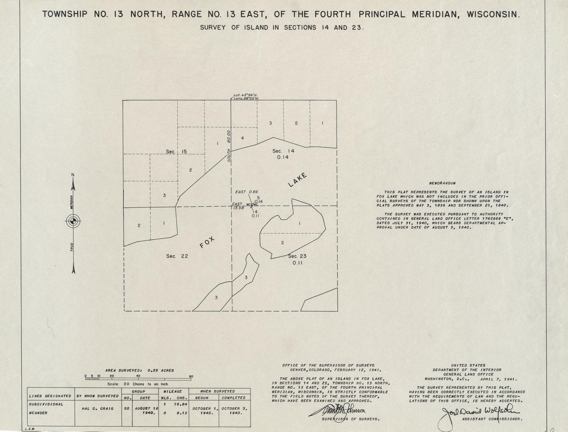[Public Land Survey System map: Wisconsin Township 13 North, Range 13 East]