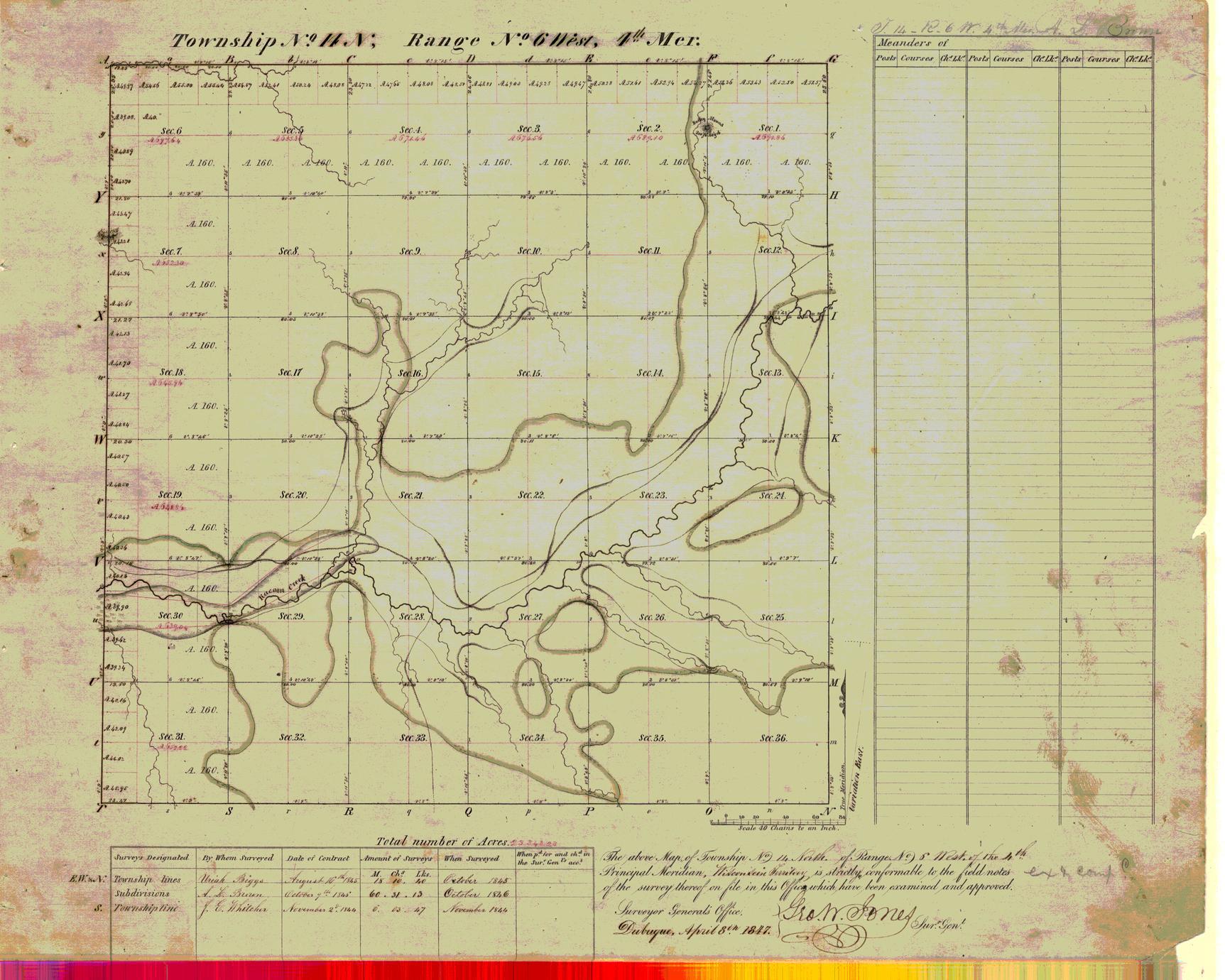 [Public Land Survey System map: Wisconsin Township 14 North, Range 06 West]