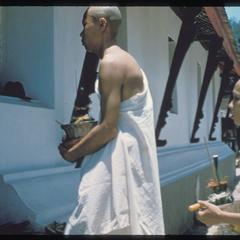 2500th Anniversary of Buddhism- bonzes entering Vat Mai