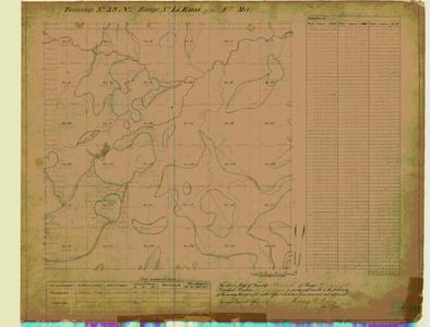 [Public Land Survey System map: Wisconsin Township 39 North, Range 15 East]