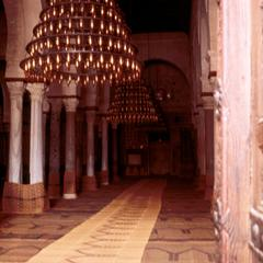 Chandeliers Inside Grand Mosque in Kairouan