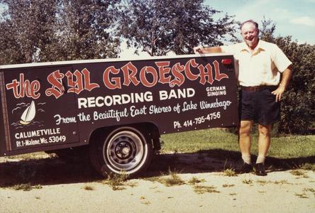 Syl Groeschl with his band's trailer