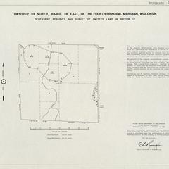 [Public Land Survey System map: Wisconsin Township 39 North, Range 18 East]