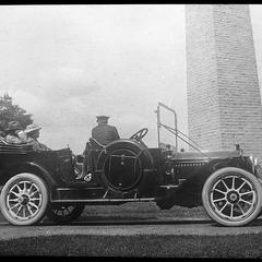 Auto before Bennington Monument