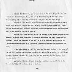 Peace Corps (1964 - May, 2001)