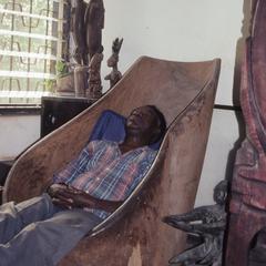 Agbo Folarin in chair
