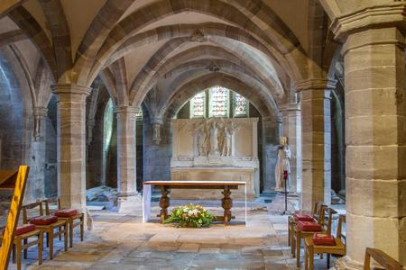 Hereford Cathedral crypt