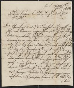 [Letter from Uncle Münzer to his nephew, 1846]