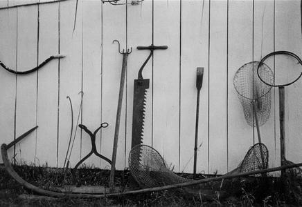 Fishing tools belonging to Alvin Jeanquart