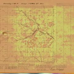 [Public Land Survey System map: Wisconsin Township 11 North, Range 01 West]