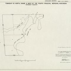 [Public Land Survey System map: Wisconsin Township 43 North, Range 06 West]