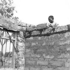 Man Laying Adobe for House