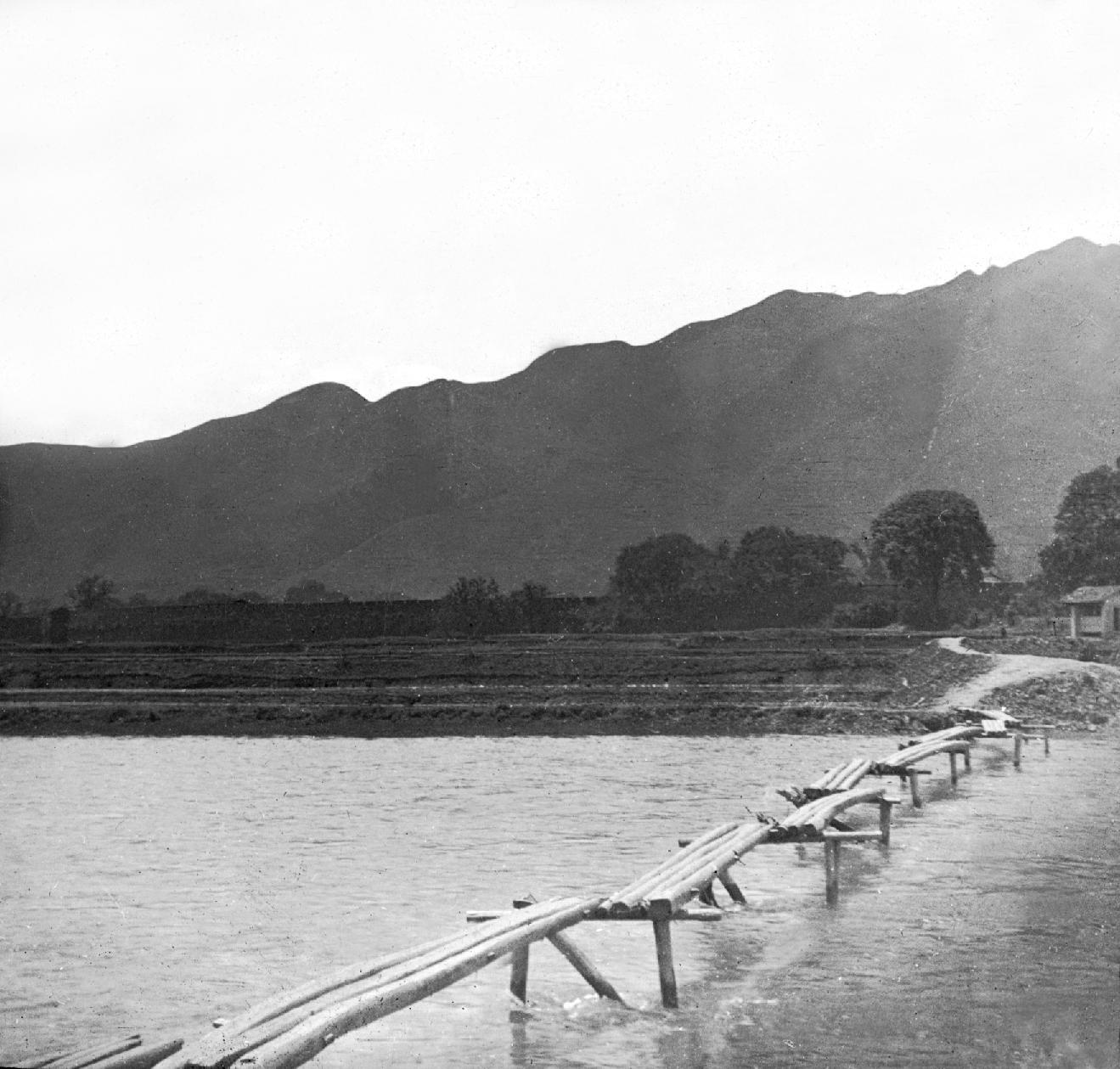 Bridge across river.