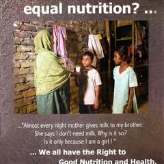 Don't I need equal nutrition? We all have the right to good nutrition and health