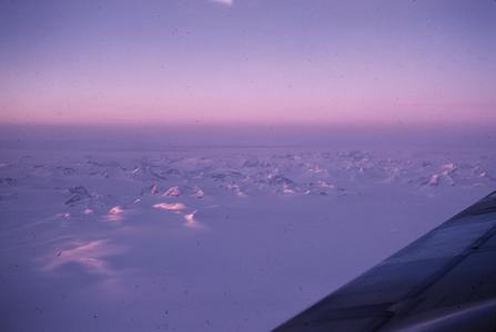 A view of Greenland from airplane