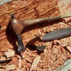 Tools Used for Carving a Pirogue (Canoe)