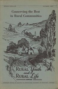 Conserving the best in rural communities : summary report of the fifth Wisconsin Country Life Conference