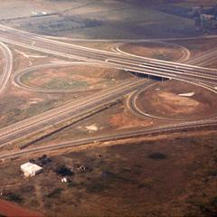 Aerial View of Clover Leaf Highway Construction near Johannesburg
