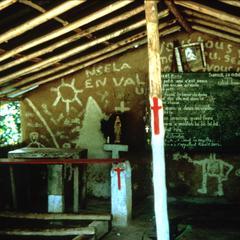 Interior of Village Church in Nzela