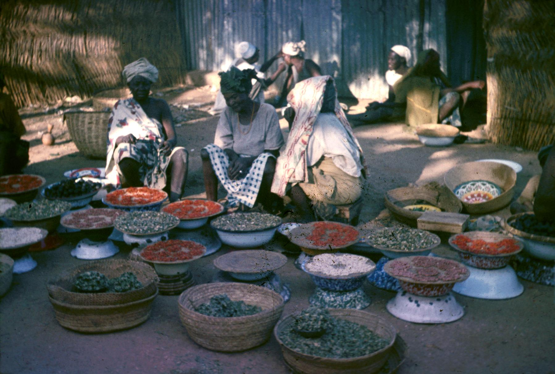 Women Selling Foods and Spices in Zaria