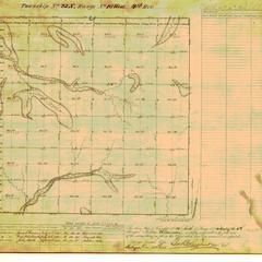 [Public Land Survey System map: Wisconsin Township 25 North, Range 10 West]