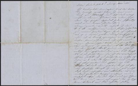 [Letter from Anton Klenert to Jakob Sternberger, March 27, 1853]