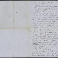 [Letter from Anton Klenert to Jakob Sternberger, March 27, 1853]