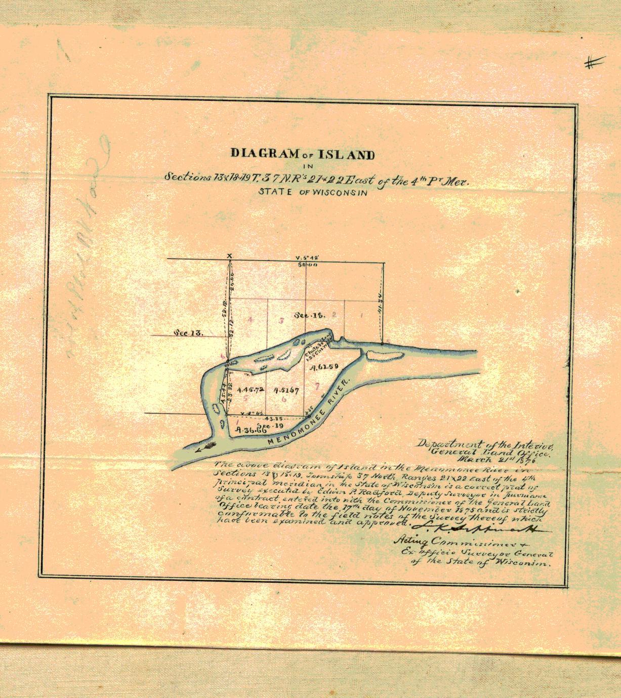 [Public Land Survey System map: Wisconsin Township 37 North, Range 22 East]