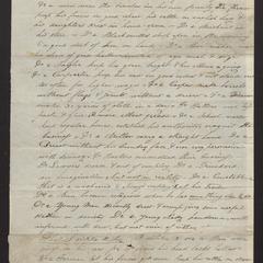 Essay addressed to Hiram Herskell, signed Olio, East Hampton, February 24, 1825