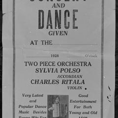 Sylvia Polso concert poster