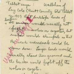 Aldo Leopold papers : 9/25/10-4 : Species and Subjects