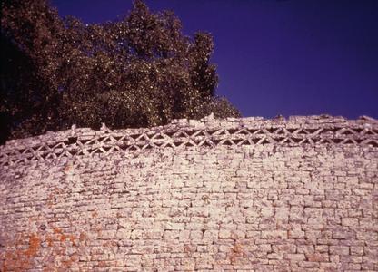 Detail Showing Chevron Design on Wall of Zimbabwe Ruins