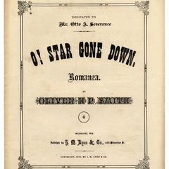 O! star gone down