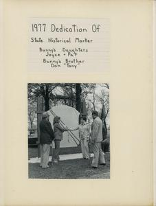 Dedication of state historical marker
