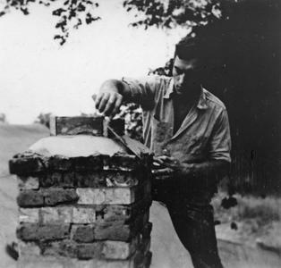 Building the shack chimney