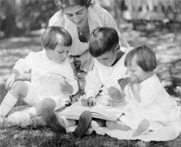 Estella with Luna, Starker, and Nina