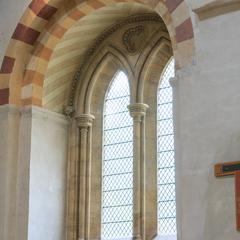 St. Albans Cathedral north transept arcade level window