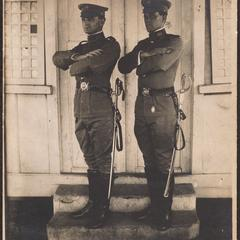 Lieuts. Chas. W. Scheule and E. Murray Bruner, Philippines Constabulary at Officers' Quarters, Constabulary School, Manila