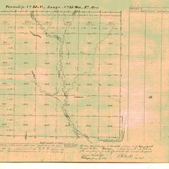 [Public Land Survey System map: Wisconsin Township 25 North, Range 15 West]