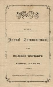 1859 commencement program cover