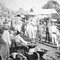 Market Scene on Krootown Road, Freetown, Circa 1890