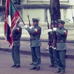 Pathet Lao honor guard