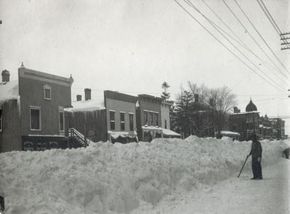 West Main Street in winter, Evansville, Wisconsin
