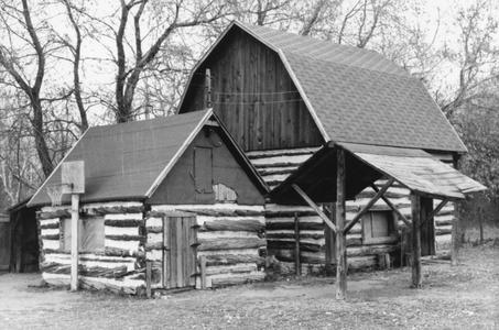 Chicken coop (foreground)